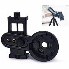 Mount Universal Tempat Menaruh Smartphone ke Lensa Teropong Monokular 55-98mm Clamp Holder Dapat Lihat Langsung Hasil Rekam Foto Kamera Teropong Mudah Dipasang Monocular Lens Design Universal - Hitam