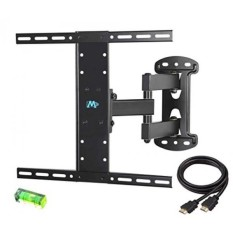 Mounting Dream MD2383 TV Wall Mount Bracket for most of 26-55 Inch LED, LCD, OLED and Plasma Flat Screen TV with Full Motion Swivel Articulating Arm up to VESA 400x400mm and 66 LBS with Tilting - intl