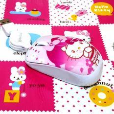 Mouse Girl Bonus Mousepad Motif HK Warna Pink - Aksesoris Laptop Mouse Murah Kado Pria Wanita Kualitas Bagus Ready Stock Jakarta