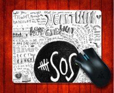 Jual Mousepad 5 Seconds Of Summer 5Sos Logo Lirik Untuk 240 200 3Mm Mouse Mat Gaming Mice Pad Intl Murah Di Tiongkok