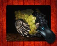 Mouse Pad Anggur Di Kerang Perak Masih Hidup Makanan dan Minuman untuk Mouse Mat 240*200*3mm Gaming Mice Pad-Intl