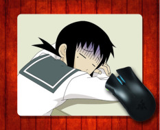 Mouse Pad Kaga Ai Sayonara Zetsubou Sensei Anime Halus untuk Mouse Mat 240*200*3mm Gaming Mice Pad-Intl