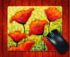 MousePad Mischas Poppies Still Life for Mouse mat 240*200*3mm Gaming Mice Pad - intl