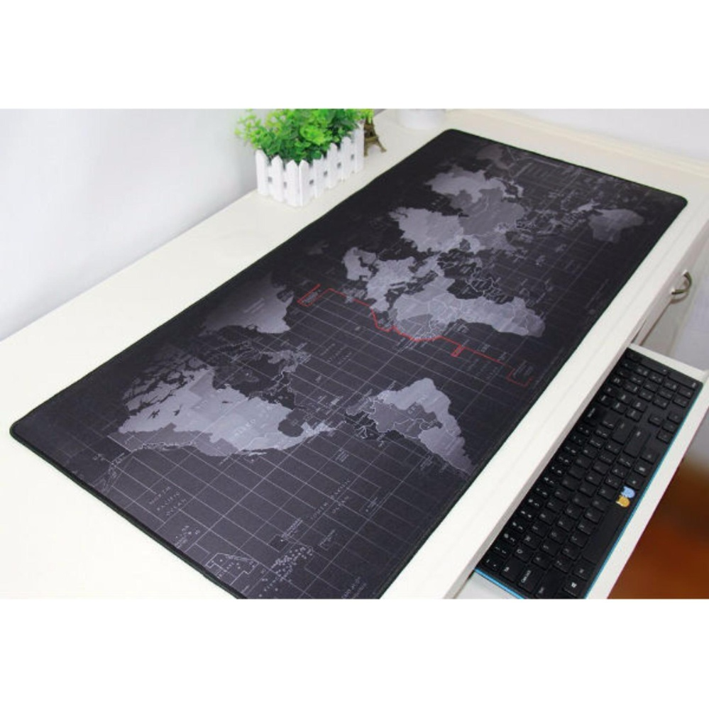 Review Mousepad Mouse Pad Gaming Pro Peta Dunia Ukuran 40 X 80 Cm Terbaru