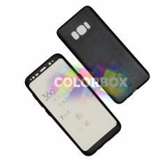 MR Case 360 Samsung Galaxy S8 / Case Samsung S8 / Case Fullbody Depan Belakang Samsung S8 / Silikon Samsung S8 / Casing Baby Skin Samsung S8 / Soft Case 360 Full Body SamsungS8 / Ultrathin SamsungS8  Slim 2in1- Black