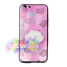 MR Case Silikon 3D Squishy Oppo F1S Selfie Expert A59 / Case Boneka Timbul Oppo A59 / Casing Oppo  - Cute Cloud Pink