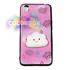 MR Case Silikon 3D Squishy Oppo Neo 9 A37 / Case Boneka Timbul Oppo A37 / Casing Oppo  - Cute Cloud Pink