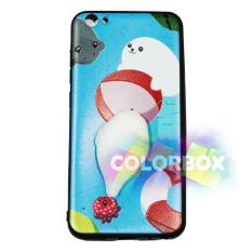 MR Case Silikon 3D Squishy  Vivo Y53 2017 / Case Boneka Vivo Y53 2017 / Casing Vivo  / Case Unik / Case Animasi Lucu - Cute Dog Sea Blue