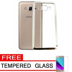 Softcase Silicon Jelly Case List Shining Chrome for Samsung Galaxy j2 Prime - silver + Tempered