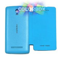 MR Oppo Find Clover R815 Flip Cover Oppo R815 / Leather Case / Sarung HP / Sarung Case / Flipcover / Sarung Oppo - Biru Muda