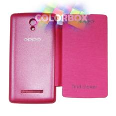 MR Oppo Find Clover R815 Flip Cover Oppo R815 / Leather Case / Sarung HP / Sarung Case / Flipcover / Sarung Oppo - Pink