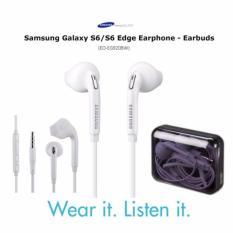 MR Samsung Handsfree Samsung Galaxy S6 EG920 Headset Earphone Original All Phone Model Stereo mp3 - White Putih