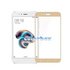 MR Screen Protector Full Screen Gold Xiaomi MI A1 Anti Gores Kaca / Tempered Glass Xiaomi Mi A1 Only Depan - Emas