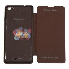 MR Smartfren Andromax U3 Flip Cover / Flipshell / Sarung HP Smartfren Andromax U3 / Non View - Brown