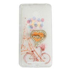 MR Soft Case Girly Motif For Xiaomi Redmi 3 Pro Softshell Animasi Bike Flower Basket & Love Phone H