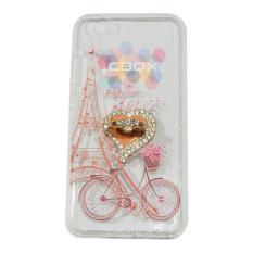 MR Soft Case Girly Motif Vivo Y67 Softshell Animasi Bike Flowers Basket & Love Phone Holder Ring Mu
