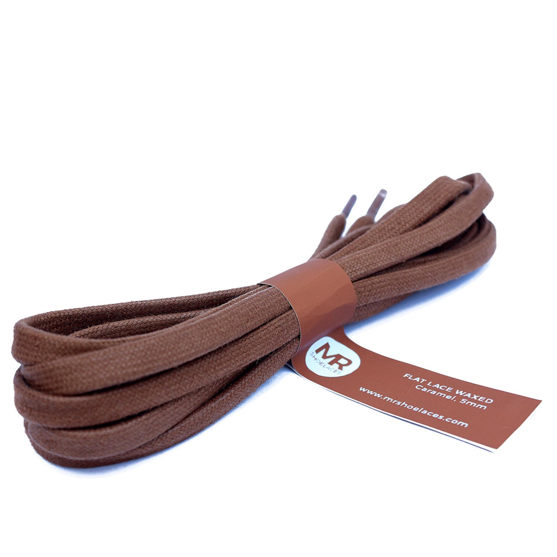 Mr. Sholeaces - Tali Sepatu Lilin Gepeng 5mm - Coklat Karamel