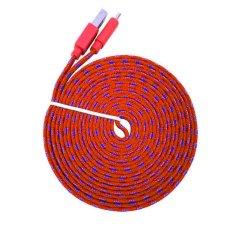 MR82 Kabel Data Charger Tali Sepatu Micro USB 3M - Merah