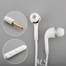 Samsung Original Handsfree / Headset / Earphone J5/S4 Flat Cable With Control Volume - White