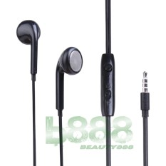 Msh Headset Stereo MSH 205 Headset multi guna untuk Samsung Earphone Stereo  Headset Oppo Headset Vivo Headset Xiaomi Handsfree Universal untuk semua jenis merk Handphone dan Komputer - Black