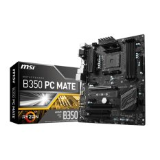MSI B350 PC MATE AM4 ATX Motherboards AMD - Black