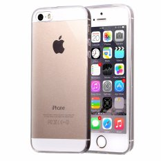 MSK Fleksibel Soft Gel TPU Silicone Skin Slim Tahan Lama Case Cover untuk IPhone 5 5 S Clear