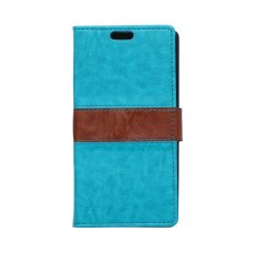 MSK Berkualitas Tinggi PU Leather Flip Wallet Card Holder Pouch Stand Sampul Belakang untuk Alcatel One Touch Pixi 3 OT-4009X Biru