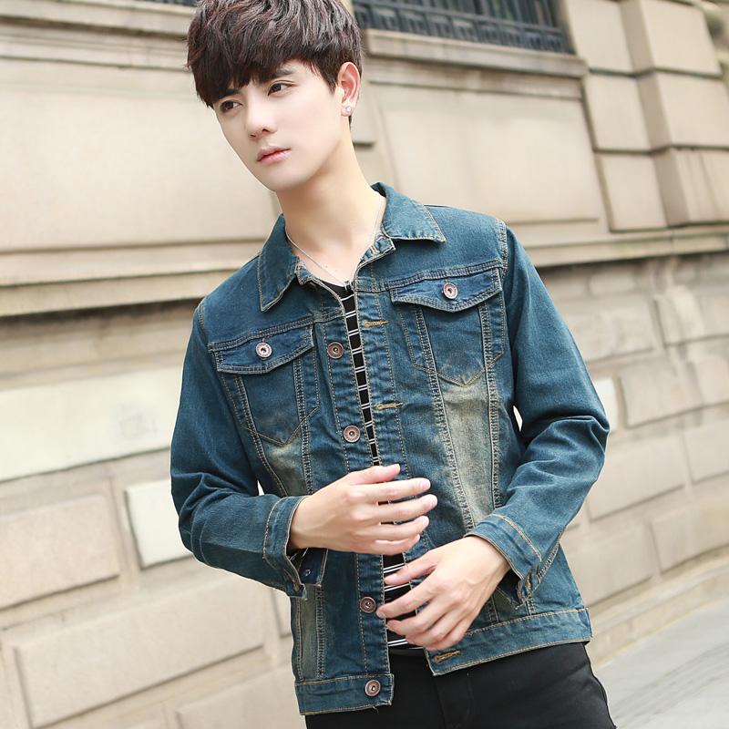 Beli Muda Baru Jaket Pria Jeket Denim Kantong Ganda Retro Secara Angsuran