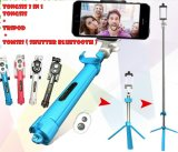 Jual Cepat Multi Function Build In Tripod Selfie Stick With Bluetooth Extendable Folding Stick For Iphone Smartphone Black