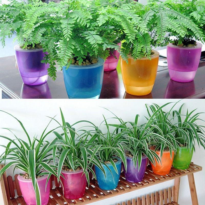 Spek Multicolor Diri Penyiraman Otomatis Pot Bunga Berkebun Aksesoris Persediaan Intl Oem