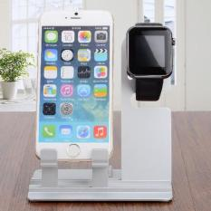Multifunctional Mini Assembled Display / Charging Holder for iPad / iPhone / Apple Watch — Sliver - intl