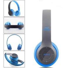 Beli Multifungsi Nirkabel P47 Bluetooth V4 1 Stereo Headset Kompatibel Dengan 3 5Mm Kabel Audio Dukungan Musik Kartu Fm Radio Over Ear Foldable Headset Untuk Ponsel Cerdas Tablet Dan Komputer Matte Warna Warna Biru Gaya Biru Secara Angsuran