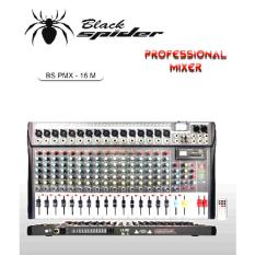 Murah !!! Mixer Black Spider Bs Pmx 16 ( 16 Channel Full ) Super Slim