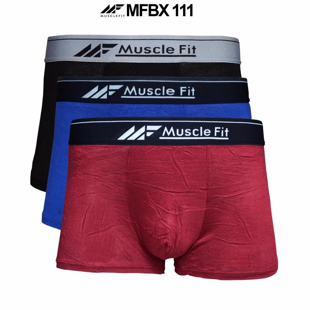Muscle Fit Celana Dalam Pria Boxer MFBX-111 Boxer - 3 pcs - Multiwarna