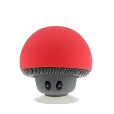 Mushroom Portable Bluetooth Wireless Mini Speaker Music Player with Suction Cup Built-in Mic Hands-free (Red) - intl