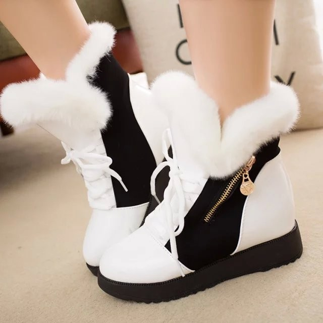 Musim Dingin Tide Perempuan Korea Edisi Plus Short Boots Bahasa Inggris dan Cotton Hangat Boots Siswa Flat Bawah Martin Boots Wanita Mao Maoxie-Intl