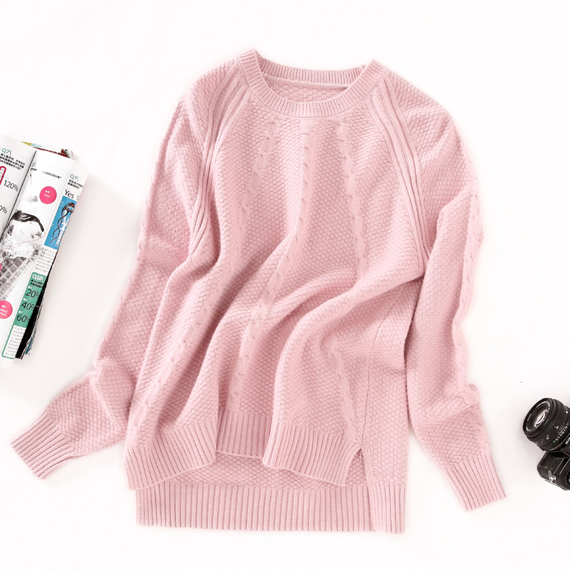 Musim Gugur Baru Looesn Merajut Kemeja (Merah Muda) Baju Wanita Baju Atasan