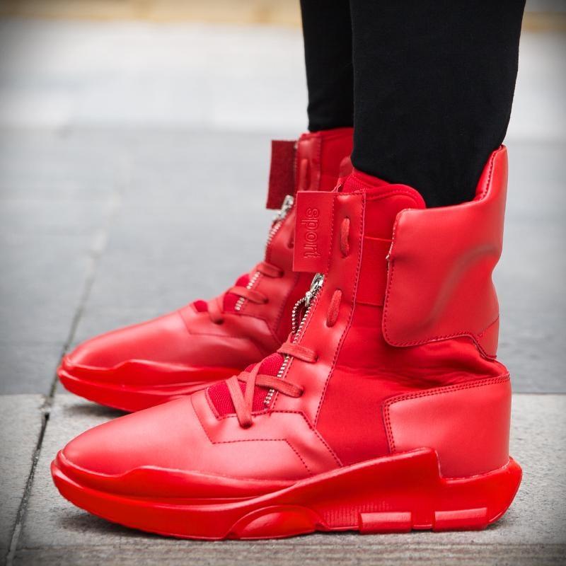 Harga Musim Gugur Dan Musim Dingin Korea Olahraga Sepatu Sepatu Casual Pria Trendy Tinggi Sepatu Merah Sepatu Sepatu Sepatu Intl Lengkap
