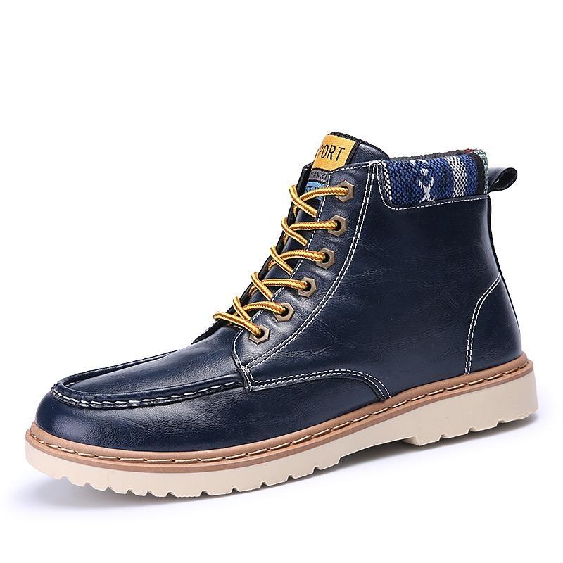 Beli Barang Musim Gugur Dan Musim Dingin Kostum Boots Men S Martin Boots Kulit Cerah Kenyamanan Sepatu Pria Sepatu Sepatu Boot Tinggi Inggris Boots Intl Online