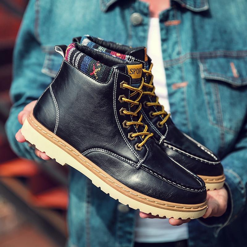 Spesifikasi Musim Gugur Dan Musim Dingin Kostum Boots Men S Martin Boots Kulit Cerah Kenyamanan Sepatu Pria Sepatu Sepatu Boot Tinggi Inggris Boots Intl Lengkap Dengan Harga