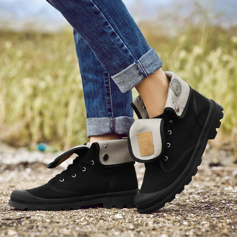 Beli Musim Gugur Dan Musim Dingin Martin Boots Pasangan Cowboy Boots Tinggi Sepatu Kasual Kanvas Sepatu Plus Ukuran 35 44 Intl Oem