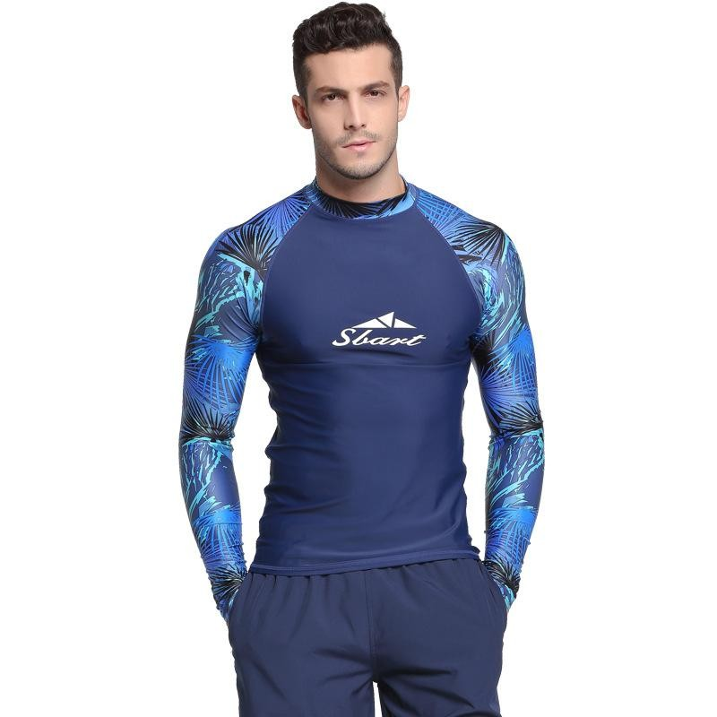Musim Panas Men Surfing Rashguard T Kemeja Lengan Panjang Snorkeling Diving Tops Stretchy Swimwear Ubur-Ubur Rash Guard Tops Tabir Surya By Mile International Store.