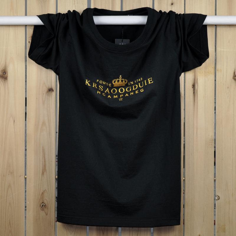 Jual Musim Panas Untuk Meningkatkan Kode Kapas Lengan Pendek T Shirt Hitam Ori