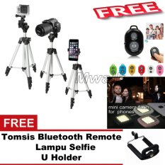 Jual Mwalk Paket Combo Tripod For Camera And Smartphone Free Tomsis Bluetooth Remote Lampu Selfie U Holder