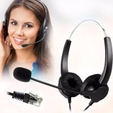 Toko M Way Rj11 Kebisingan Membatalkan Binaural Headset Headphone Call Center Intl Not Specified Online
