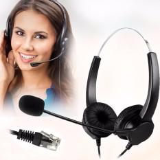 Harga M Way Rj11 Kebisingan Membatalkan Binaural Headset Headphone Call Center Intl Murah