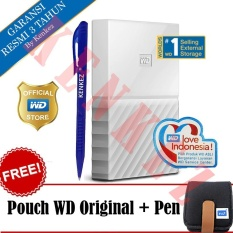 Harga Wd My Passport New Design 2Tb 2 5Inch Usb3 Putih Free Pouch Pen Satu Set