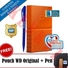 WD My Passport New Design 4TB/2.5Inch/USB3.0 - Orange + Free Pouch + Pen
