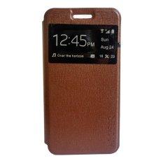 My User Flip Cover Oppo Mirror 5 - Coklat