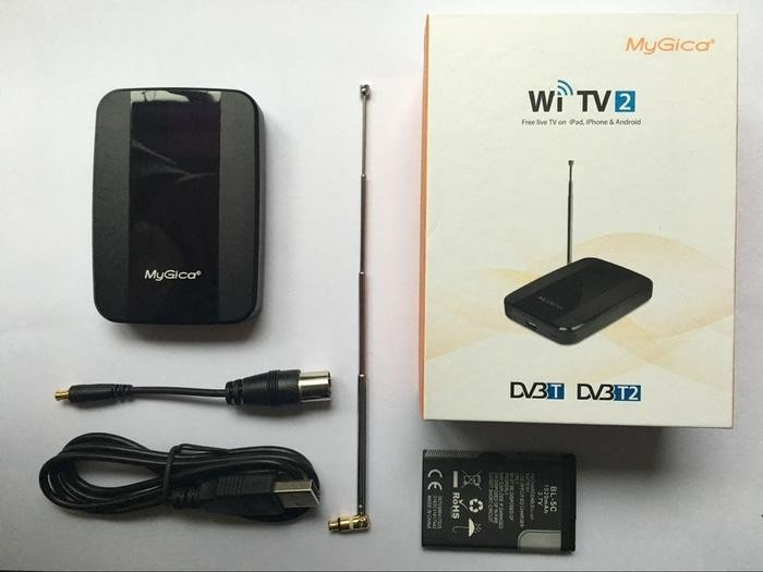Mygica WI TV2 Wireless TV Tuner DVB-T2 For Android & Apple Ios